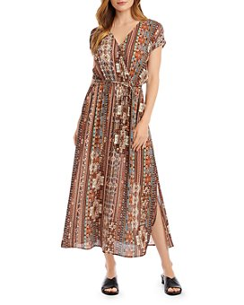 Karen Kane - Printed Faux-Wrap Dress