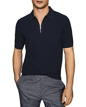 REISS - Tomas Waffle-Stitch Polo Shirt