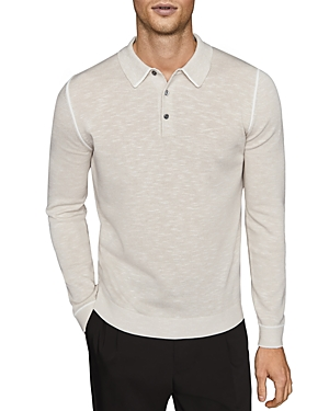 Reiss Gabriel Color-Tipped Polo Sweater