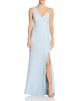 BCBGMAXAZRIA - Asymmetric Crêpe Gown - 100% Exclusive