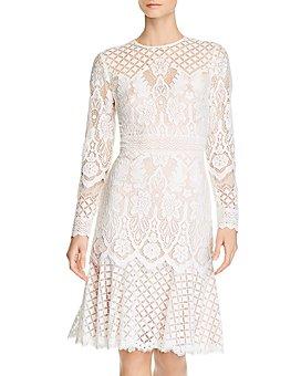 Tadashi Shoji - Lace Illusion Dress