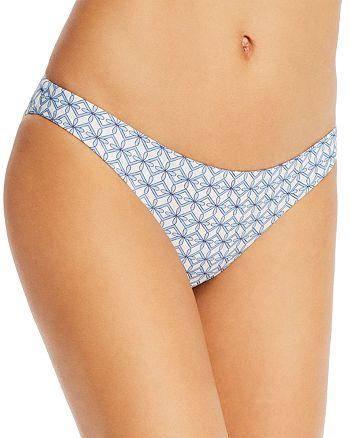Tory Burch - Printed Ring Hipster Bikini Bottom