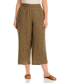 Eileen Fisher Plus - Organic Linen Cropped Pants