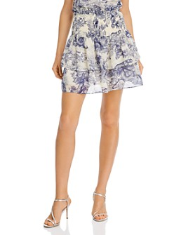 AQUA - Toile Print Ruffled Skirt - 100% Exclusive