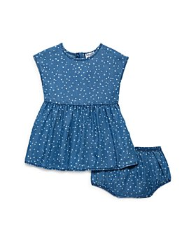Splendid - Girls' Chambray Dot Dress & Bloomers Set - Baby