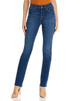 7 For All Mankind - Slim Straight-Leg Jeans in Classic Medium Blue