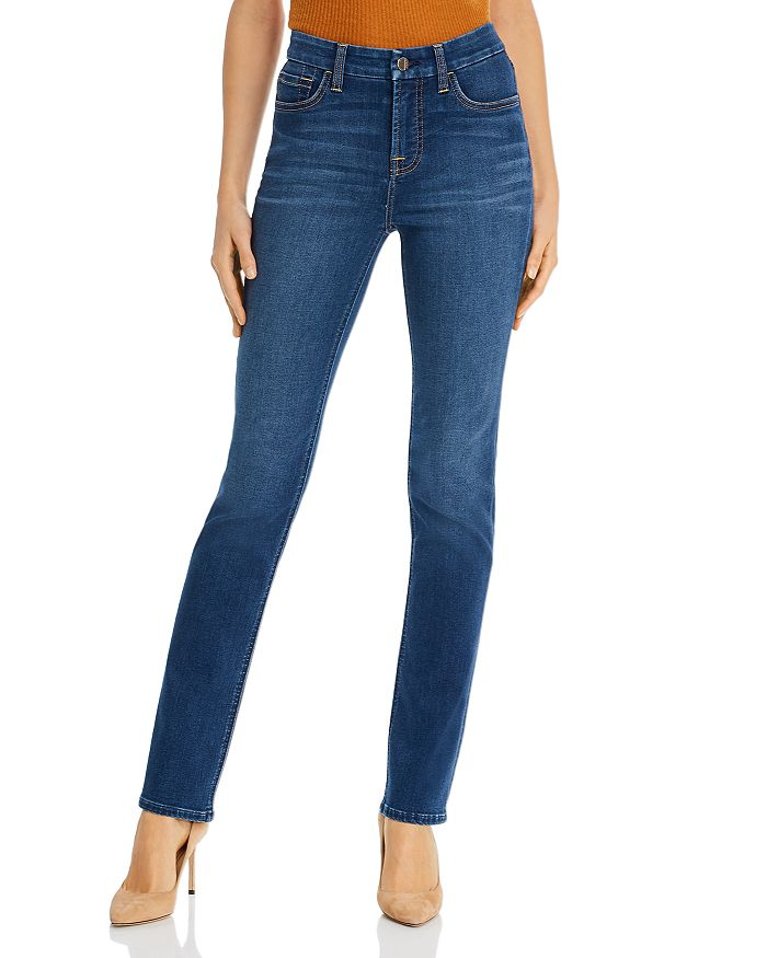 Jen 7 - Slim Straight-Leg Jeans in Classic Medium Blue