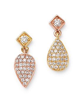 Bloomingdale's - Diamond Mismatched Drop Earrings in 14K Rose & Yellow Gold, 0.35 ct. t.w. - 100% Exclusive