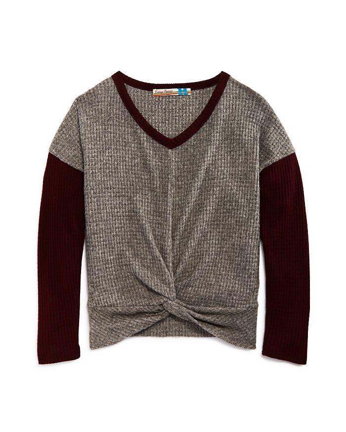 Vintage Havana - Girls' Twist Front Sweater - Big Kid