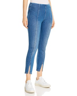 Lyssé - Evelyn Split-Hem Jeans in Mid Wash