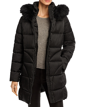 Via Spiga Fax Fur Trim Puffer Coat-Women