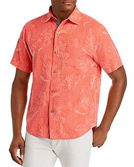 Tommy Bahama - Lahaina Leaves Regular Fit Short-Sleeve Silk Shirt