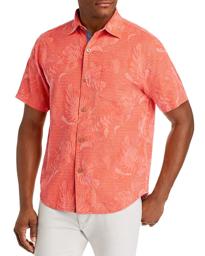 Tommy Bahama - Lahaina Leaves Regular Fit Short-Sleeve Silk Shirt