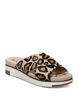 Sam Edelman - Women's Audrea Leopard-Print Platform Slide Sandals