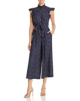 Rebecca Taylor - Heart-Print Tie-Waist Silk Jumpsuit