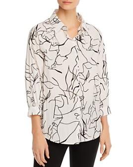 T Tahari - T Tahari Printed Shirt
