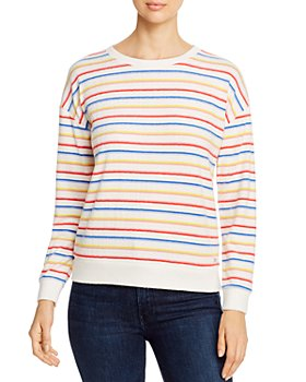 Marc New York - Striped Brushed-Knit Sweater