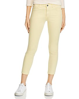 AG - Prima Mid-Rise Crop Skinny Jeans in Morocco Sand - 100% Exclusive
