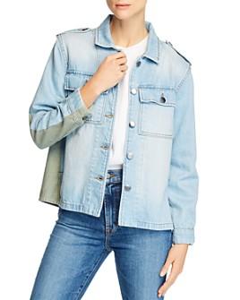 FRAME - Le Mixed Media Cargo Shirt Jacket