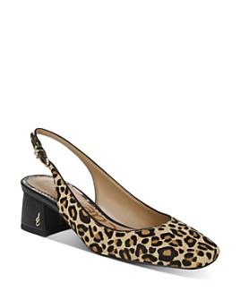 Sam Edelman - Women's Tamra Leopard-Print Slingback Pumps