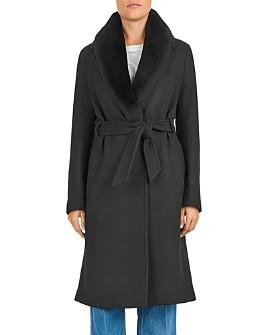 Gerard Darel - Paxton Shearling Collar Virgin Wool-Blend Coat