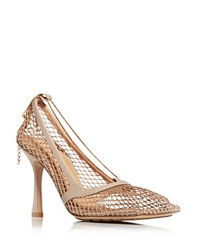 Bottega Veneta - Mesh Square Toe Pumps