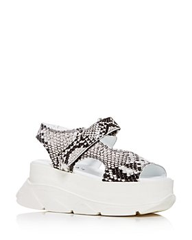 Joshua Sanders - Women's Spice Snake-Embossed Platform Wedge Sandals