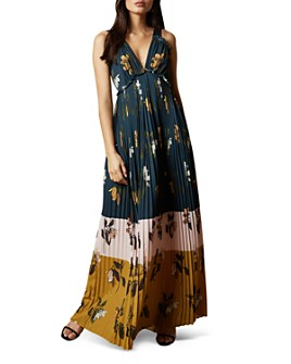 Ted Baker - Kaylare Savanna Floral-Print Pleated Maxi Dress