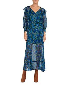 The Kooples - Water Anemone Wrap Dress