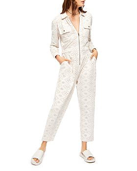 Free People - Set The Tone Eyelet Jumpsuit