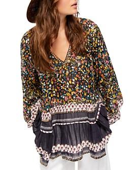 Free People - Gardenia Printed Embellished Tunic