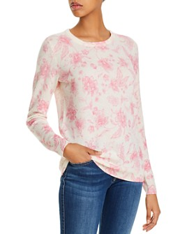 C by Bloomingdale's - Cashmere Floral-Print Sweater - 100% Exclusive