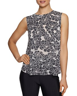 Betsey Johnson - Burnout Floral Muscle Tank