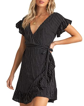 Billabong - Wrap and Roll Striped Wrap Dress