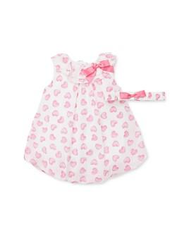 Little Me - Girls' Hearts Bubble Romper & Headband Set - Baby