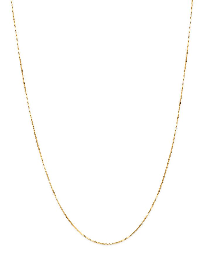 """Bloomingdale's - Box Link Chain Necklaces in 14K White Gold or 14k Yellow Gold, 16-20"""" - 100% Exclusive"""