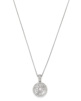 Bloomingdale's - Diamond Baguette Pendant Necklace in 14K White Gold - 100% Exclusive