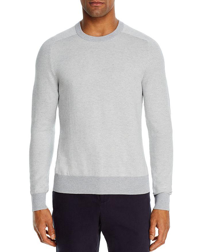The Men's Store at Bloomingdale's - Cotton-Blend Chevron Classic Fit Crewneck Sweater - 100% Exclusive