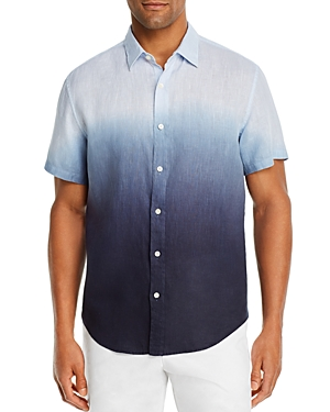 The Men's Store at Bloomingdale's Short-Sleeve Dip-Dyed Linen Classic Fit Shirt - 100% Exclusive