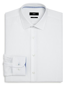 BOSS - Jesse Solid Slim-Fit Dress Shirt