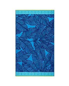 Sky - Cotton Tropical Leaf Beach Towel - 100% Exclusive