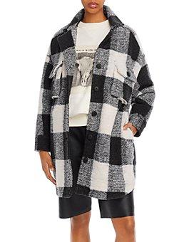 Anine Bing - Mave Wool-Blend Buffalo Plaid Flannel Jacket
