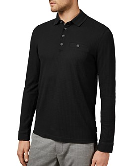 Ted Baker - Krispie Textured Long-Sleeve Polo