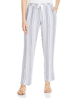 XCVI - Ciara Striped Drawstring Pants