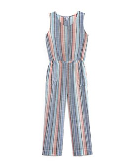 Splendid - Girls' Woven Striped Jumpsuit - Big Kid