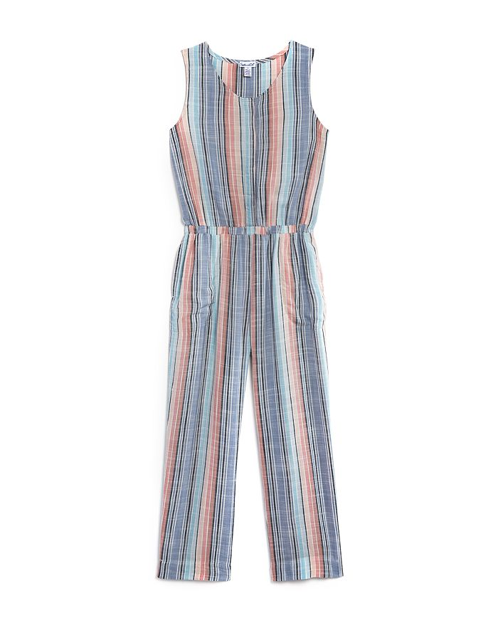Splendid - Girls' Woven Striped Jumpsuit - Little Kid