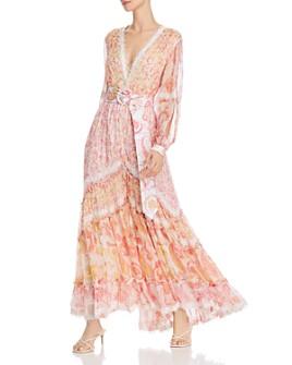 Rococo Sand - Slit-Sleeve Paisley Maxi Dress