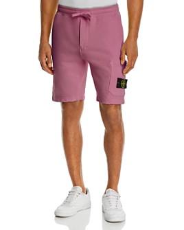 Stone Island - Solid Cotton Fleece Shorts