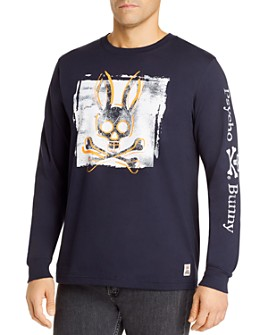 Psycho Bunny - Lanyard Cotton Logo Long-Sleeve Tee