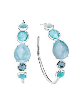 IPPOLITA - Sterling Silver Rock Candy® Mixed Stone Hoop Earrings